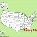 Panama City Location On The U.s. Map   Panama Florida Map