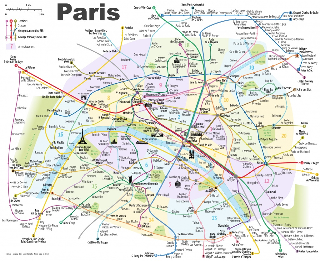 Paris Attractions Map Pdf - Free Printable Tourist Map Paris, Waking - Printable Map Of Paris With Tourist Attractions