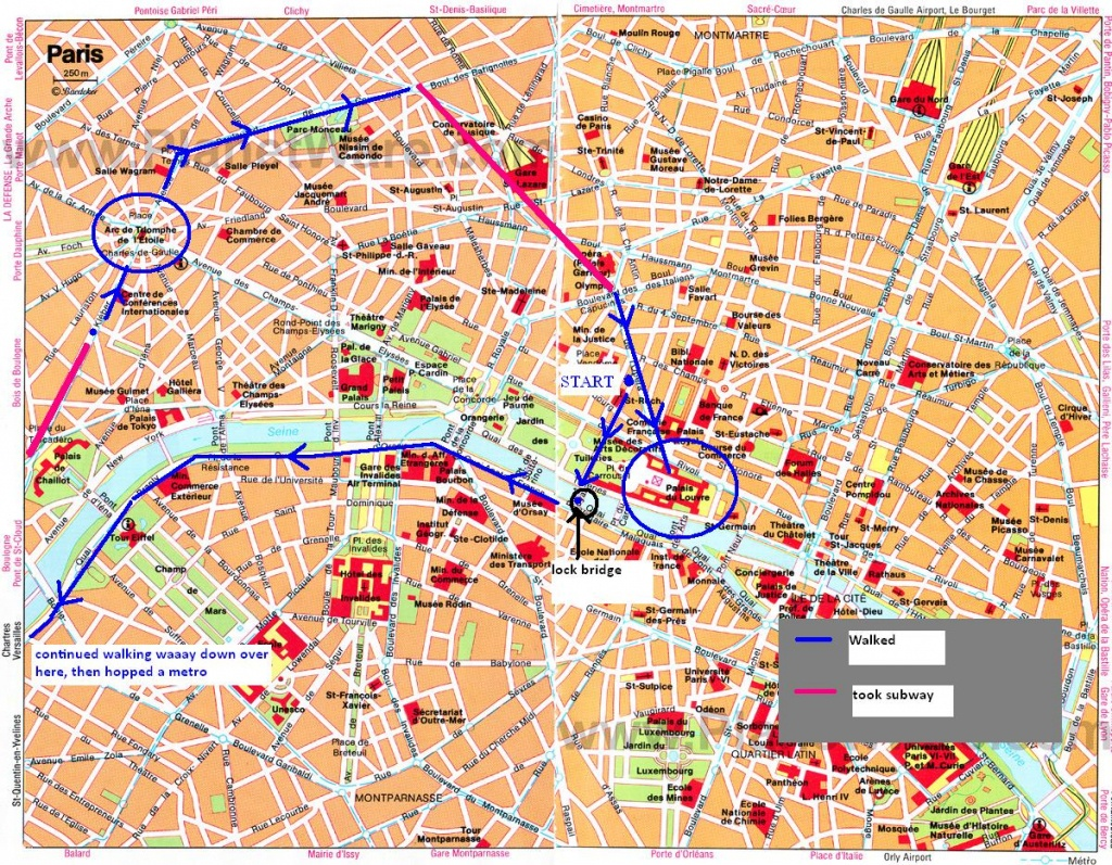 Paris Attractions Map Pdf - Free Printable Tourist Map Paris, Waking - Printable Walking Map Of Paris