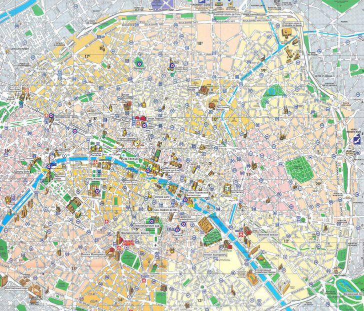 Printable Map Of Paris France