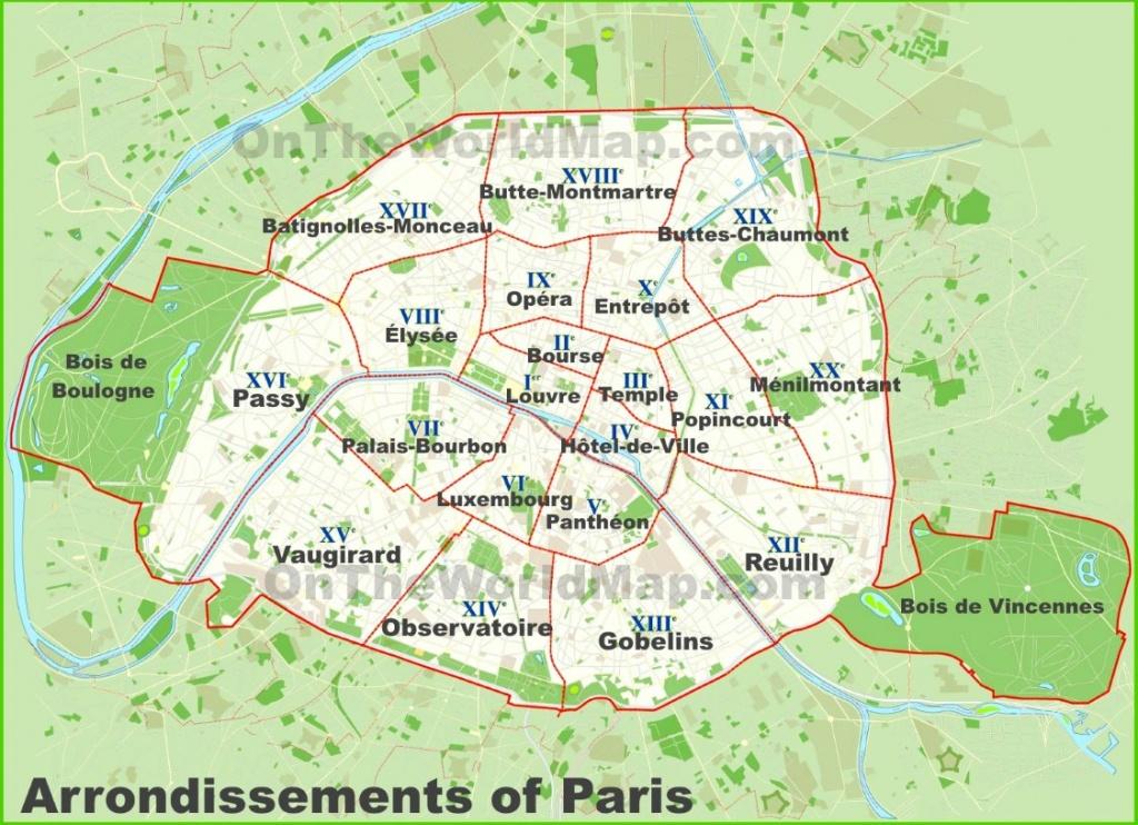 Paris Maps | France | Maps Of Paris - Printable Map Of Paris Arrondissements