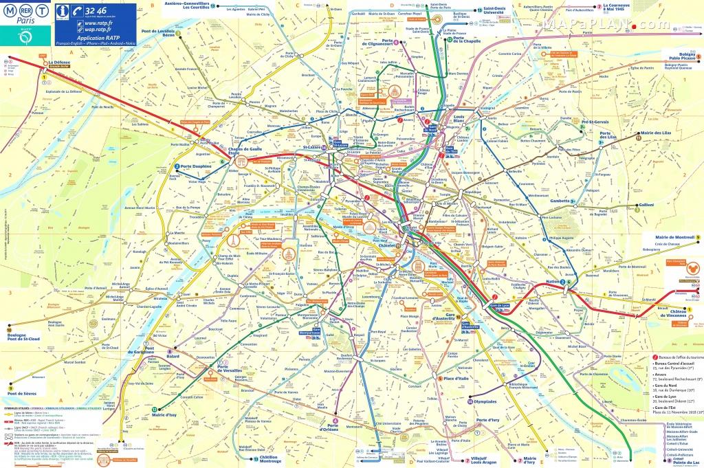 Paris Maps Top Tourist Attractions Free Printable Mapaplan Com And - Free Printable Map Of Paris