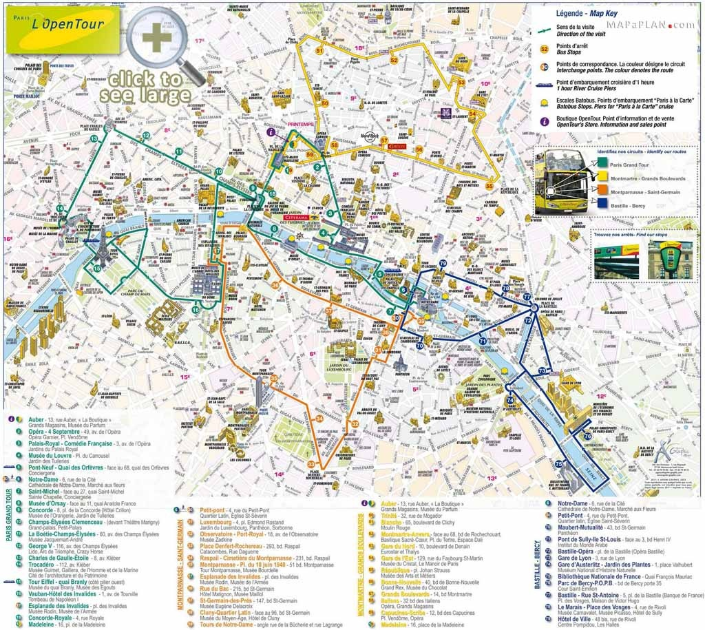 Paris Tourist Map Printable | Printable Maps