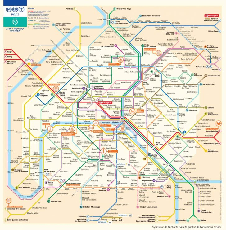 Printable Map Of Paris Tourist Attractions