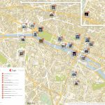 Paris Printable Tourist Map | Sygic Travel   Printable Walking Map Of Paris