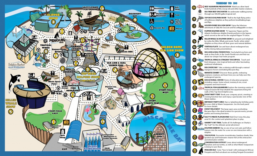 Park Map | Miami Seaquarium - Florida Aquarium Map