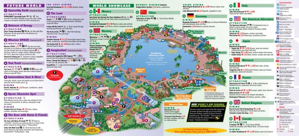 Park Maps 2009 - Photo 2 Of 4 - Epcot Florida Map