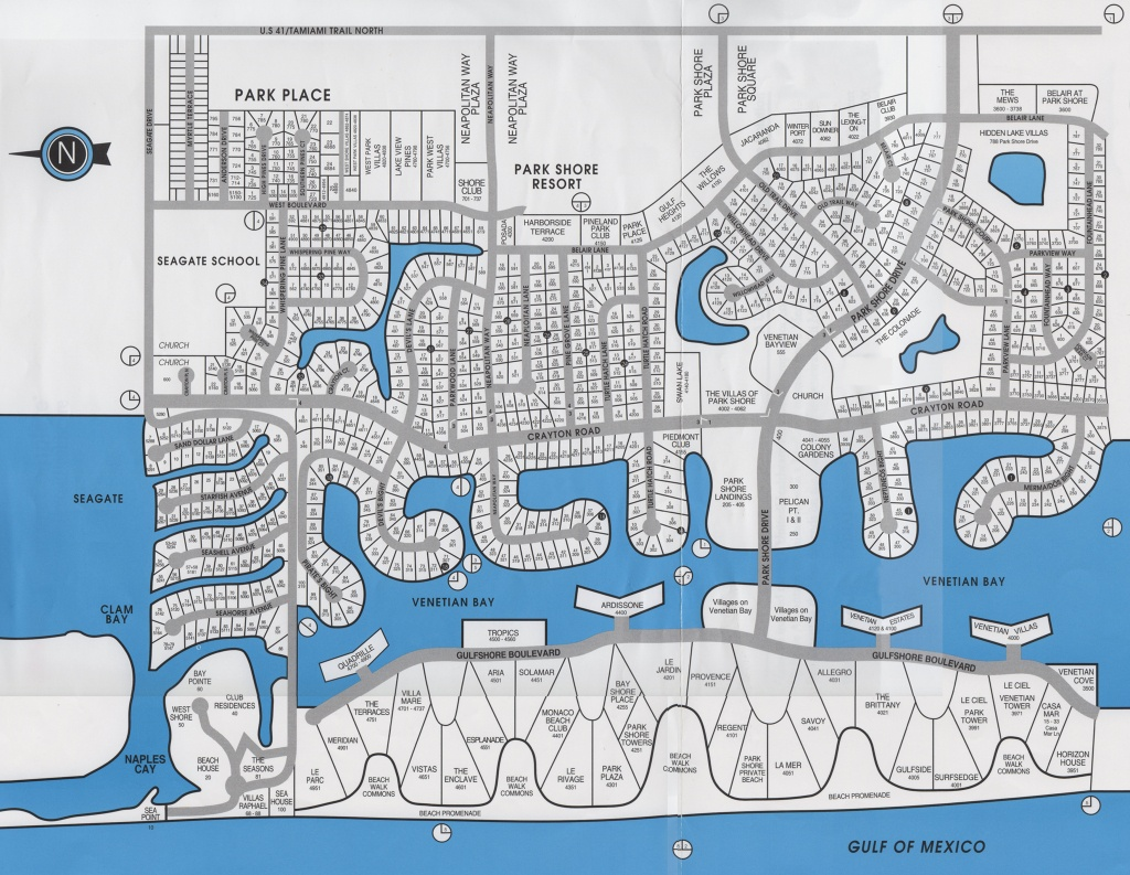 Park Shore Naples Florida - Map Of Naples Florida Neighborhoods