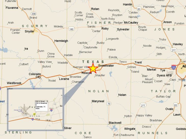 Sweetwater Texas Map
