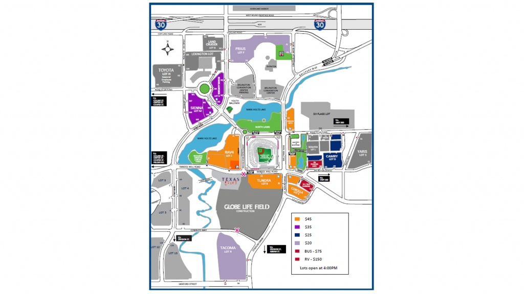 Paul Mccartney At Globe Life Park   Texas Rangers - Texas Rangers Stadium Parking Map