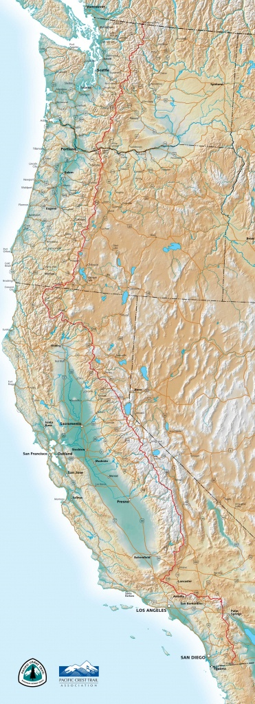 Pct Maps - California Hiking Trails Map