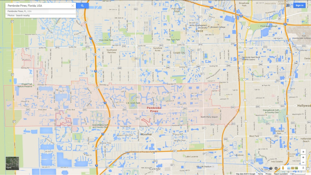 Pembroke Pines, Florida Map - Pembroke Pines Florida Map