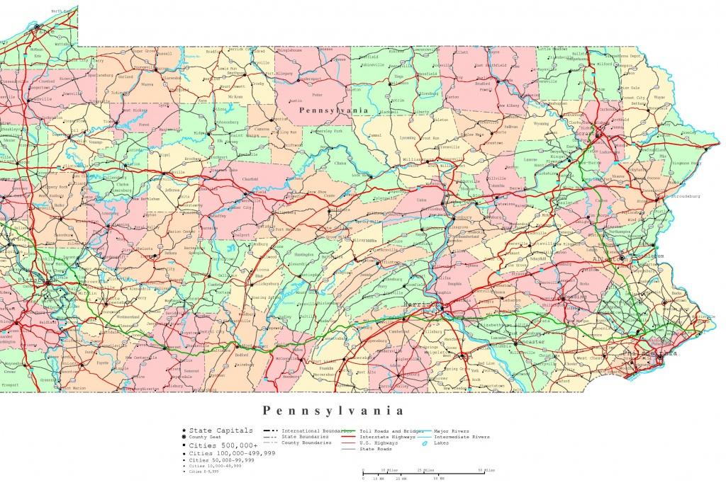 Pennsylvania Printable Map - Printable Road Map Of Pennsylvania