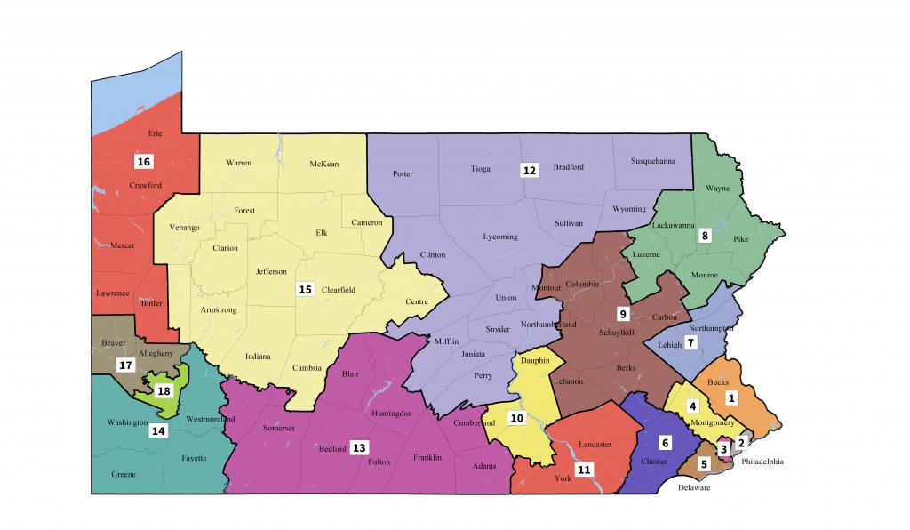 Pennsylvania's Congressional Districts - Wikipedia - Texas Us Senate District Map