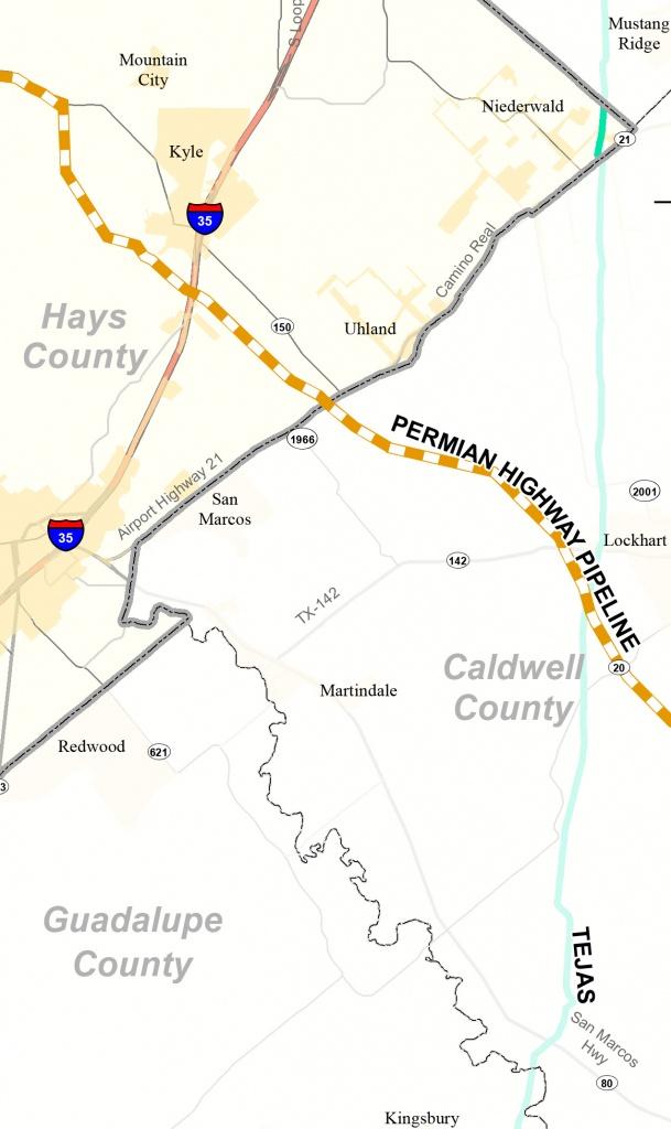 Permian Highway Pipeline | Braun & Gresham, Pllc. - Caldwell Texas Map