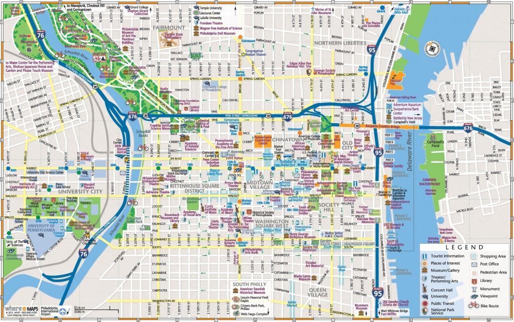 Philadelphia Downtown Map - Printable Map Of Downtown Boston
