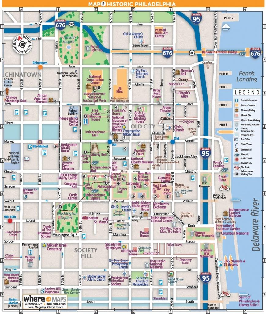 Philadelphia Old City Map - Philadelphia Tourist Map Printable