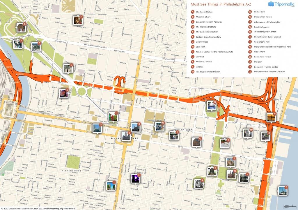 Philadelphia Printable Tourist Map In 2019   Free Tourist Maps - Printable Map Of Philadelphia