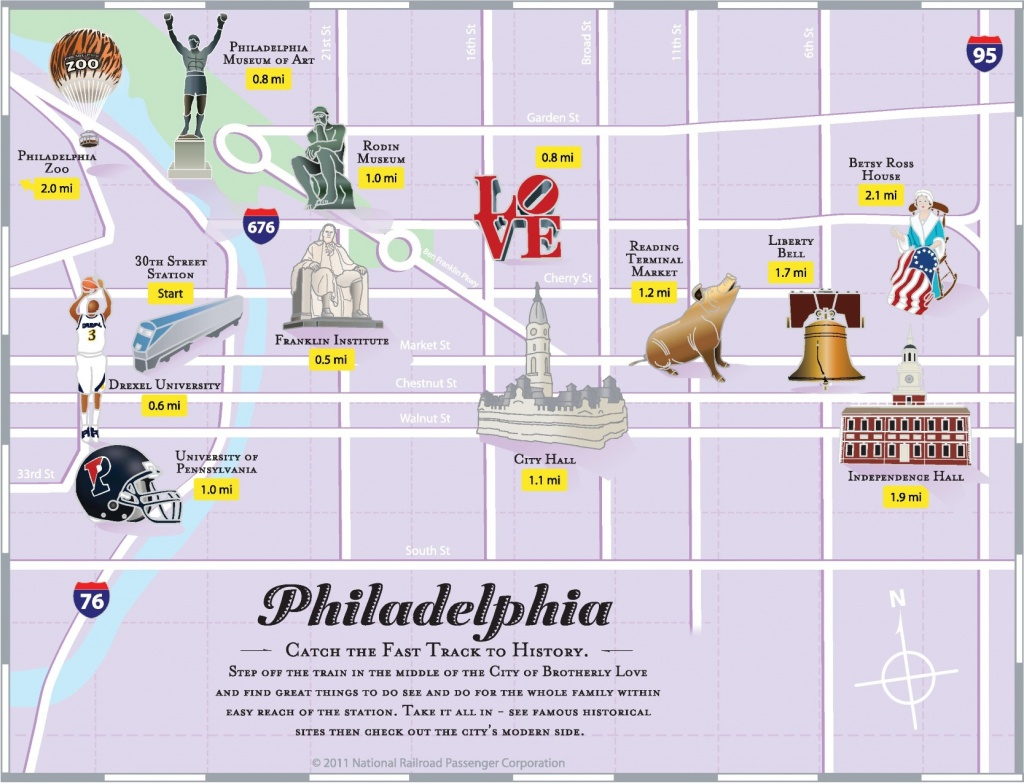 Philadelphia Tourist Attractions Map - Printable Map Of Philadelphia Attractions