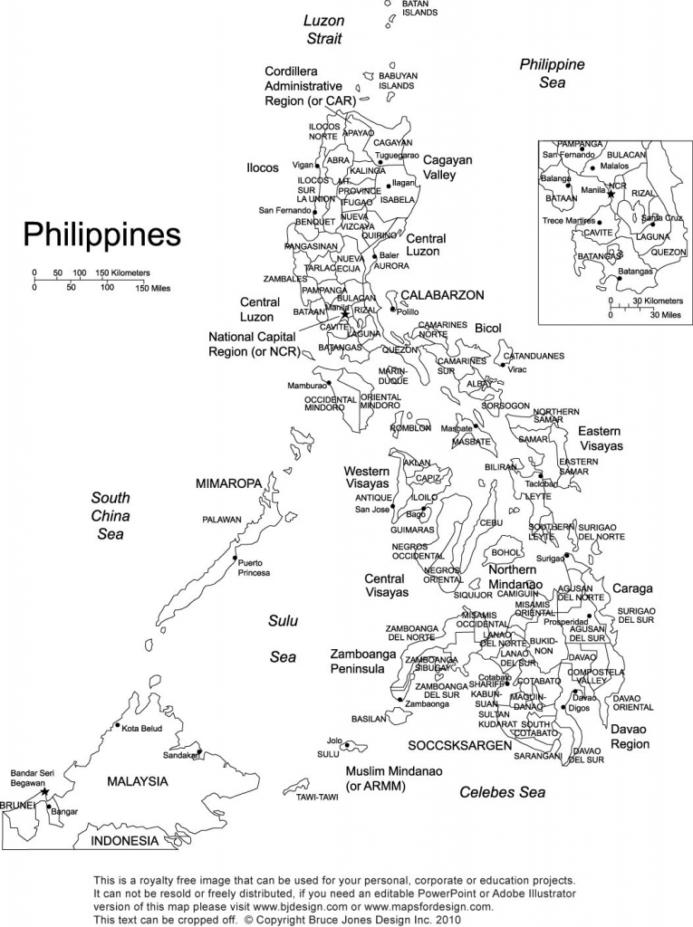 Philippines Printable Blank Map, Royalty Free, Manila | Gift Ideas - Printable Map Of The Philippines