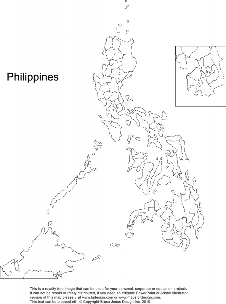 Philippines Printable, Blank Maps, Outline Maps • Royalty Free - Printable Map Of The Philippines
