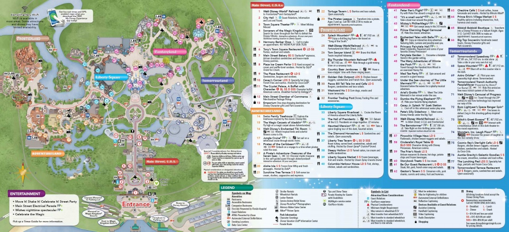Photos - Fastpass+ Updates Now Rolled Out Across All The Park Guide Maps - Printable Disney World Maps 2017