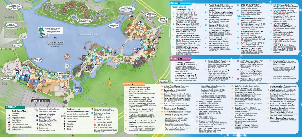 Photos - New Downtown Disney Guide Map Includes Disney Springs Name - Disney Springs Florida Map