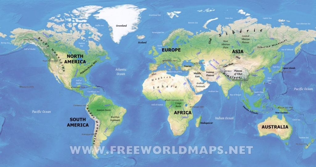 Physical Map Of World   World Physical Map Printable - World Physical Map Printable