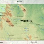 Physical Map Of Wyoming   Printable Map Of Wyoming