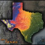 Physical Texas Map | State Topography In Colorful 3D Style   Texas Topo Map