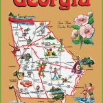 Pictorial Travel Map Of Georgia   Printable Map Of Georgia