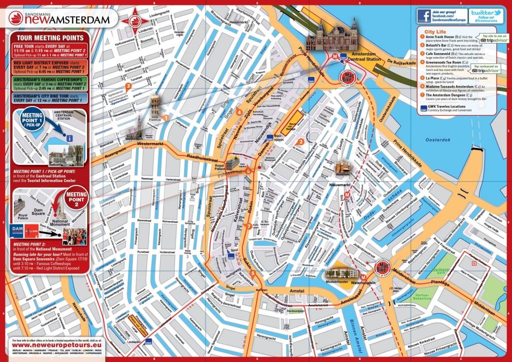 Pincandy Llanos On Travel The World | Amsterdam Tourist Map - Amsterdam Street Map Printable