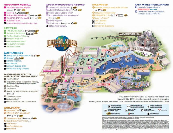 Universal Parks Florida Map