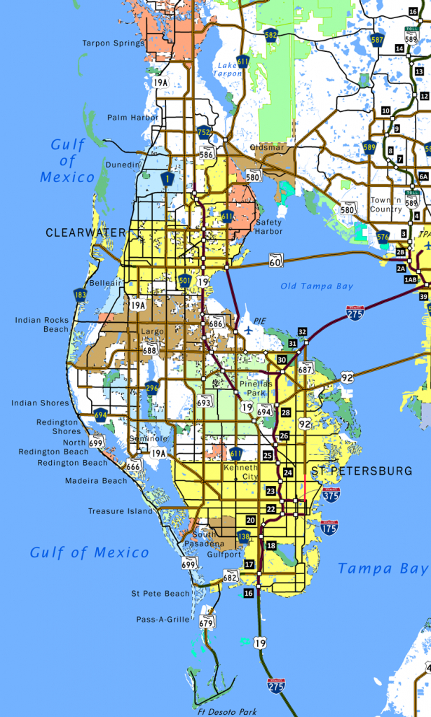 Pinellas County - Aaroads - Where Is Palm Harbor Florida On The Map