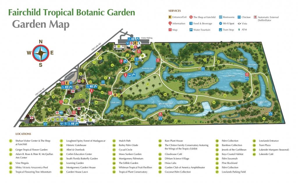 Pinjan On Florida | Botanic Garden Map, Florida Botanical - Florida Botanical Gardens Tourist Map