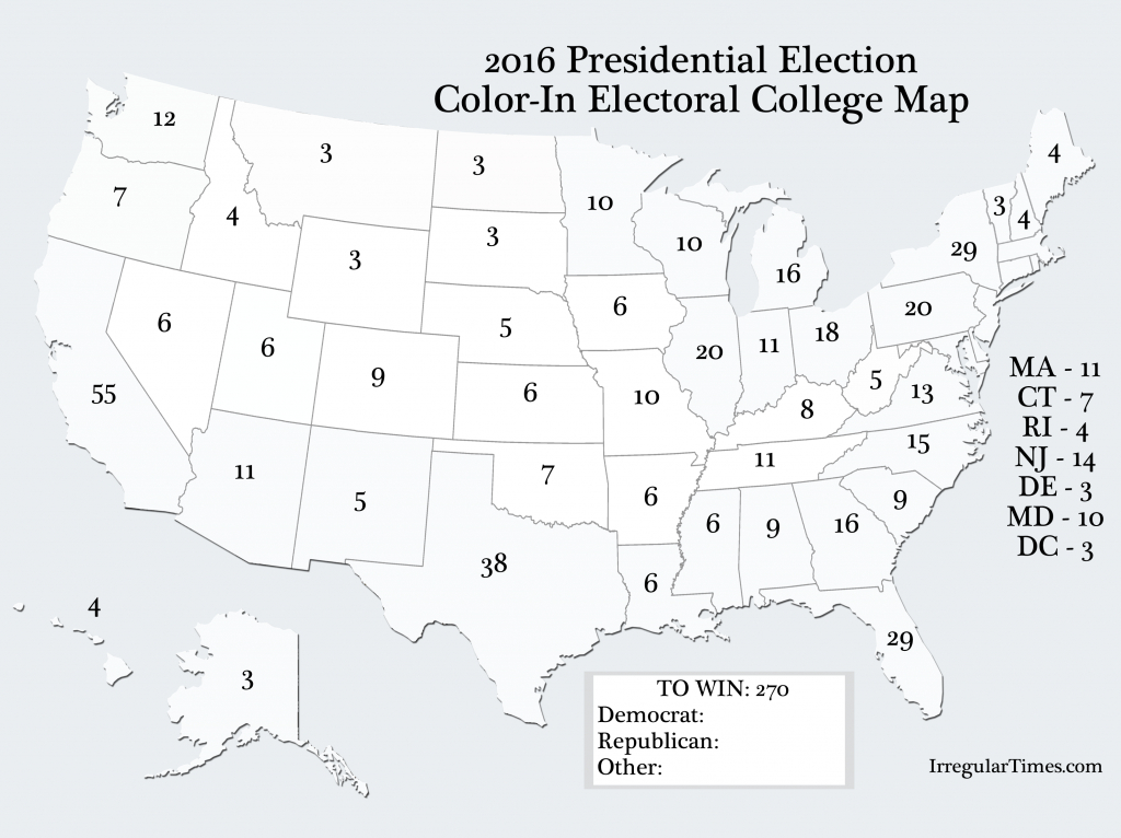 Pinlawren Roulier Casagrande On Election Party | Us Map - Blank Electoral College Map 2016 Printable