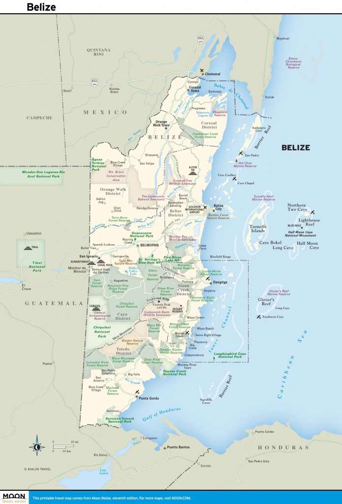 Pinmaud Cohen On Voyage | Map Of Belize, Belize Vacations - Printable Map Of Belize