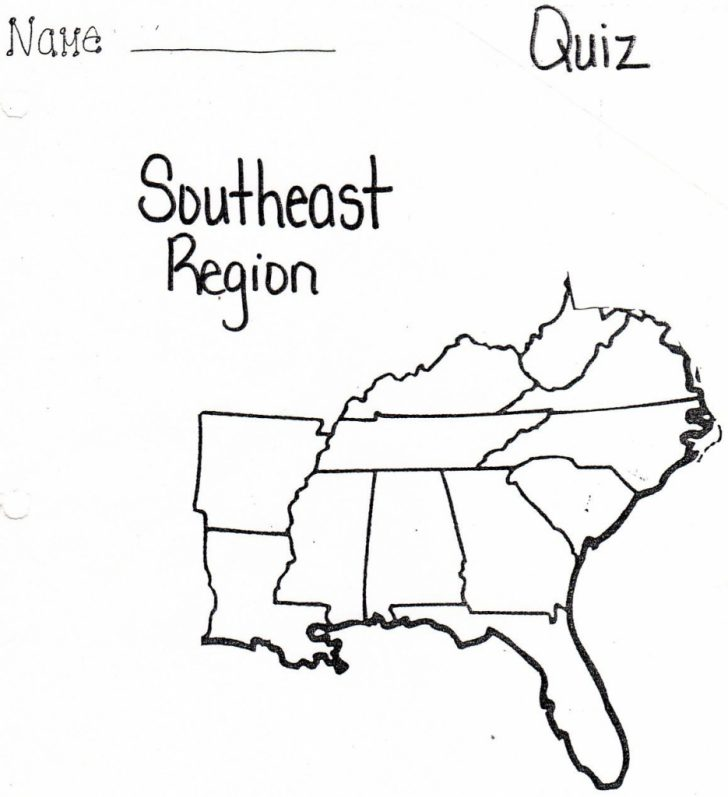 Printable Map Of Southeast United States