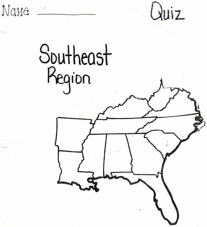 Southeast States Map Printable