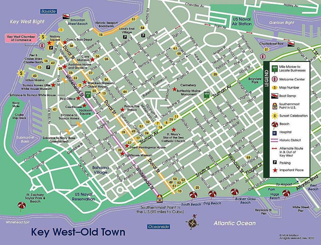 Pinpat Fann Fink On Florida | Key West Map, Florida Keys Map - Key West Street Map Printable