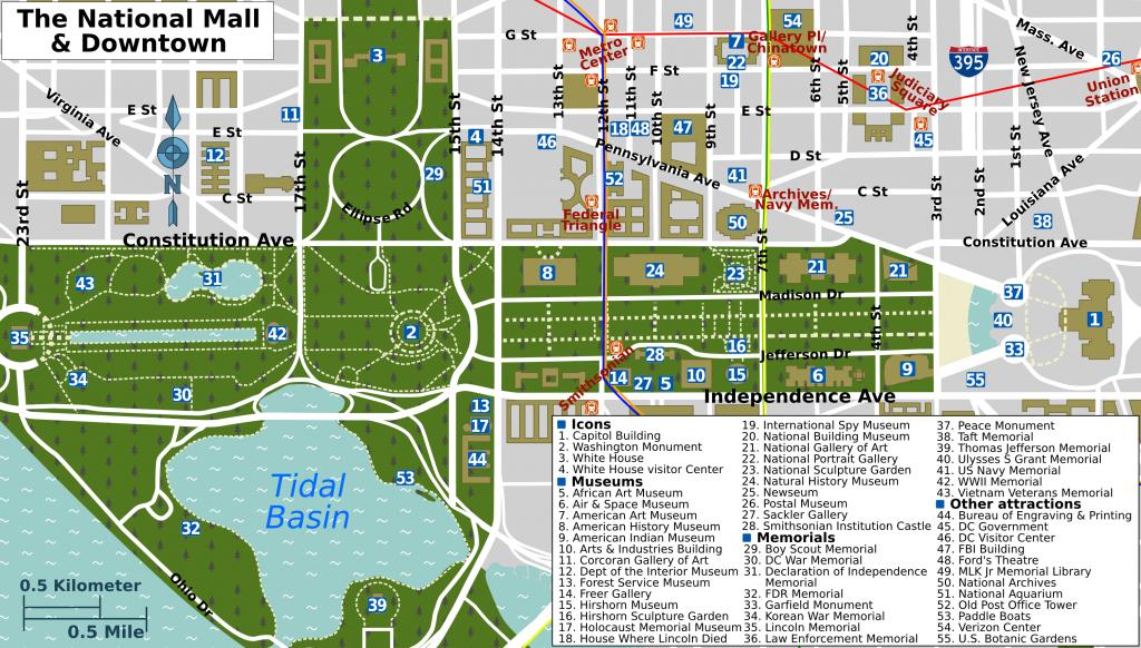 Pinpeggy Sheffold On Decor   Washington Dc Map, Washington Dc - Washington Dc Tourist Map Printable