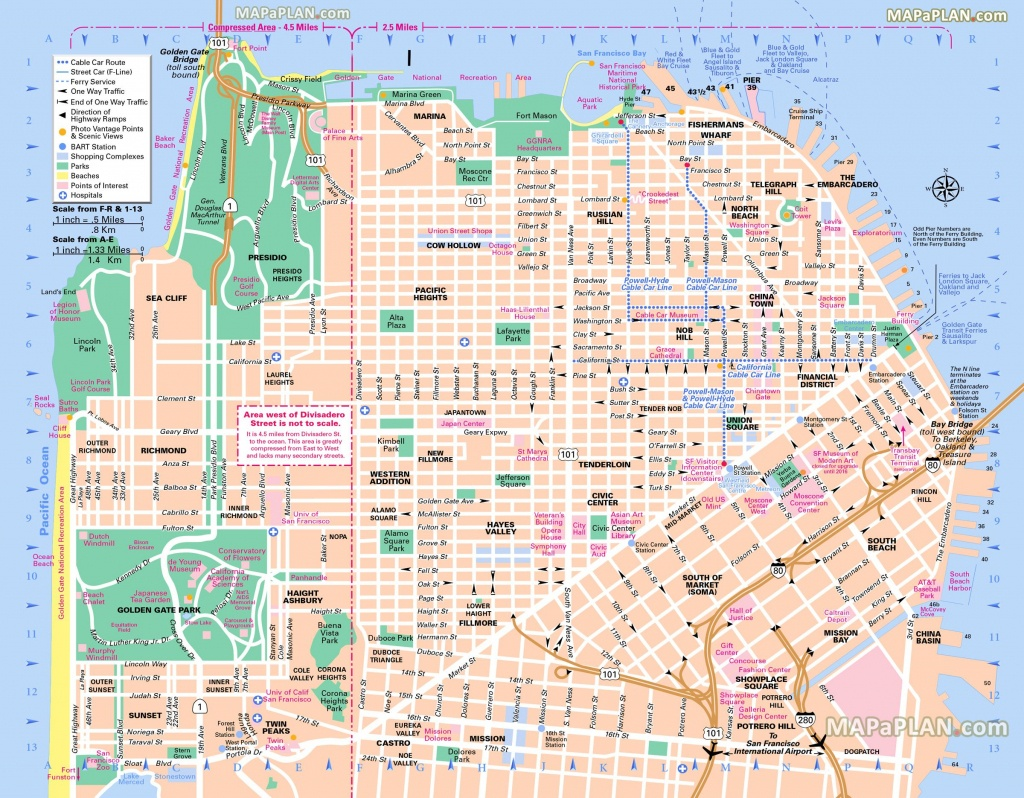 Pinricky Porter On Citythe Bay | San Francisco Map, Map, Usa - San Francisco Tourist Map Printable