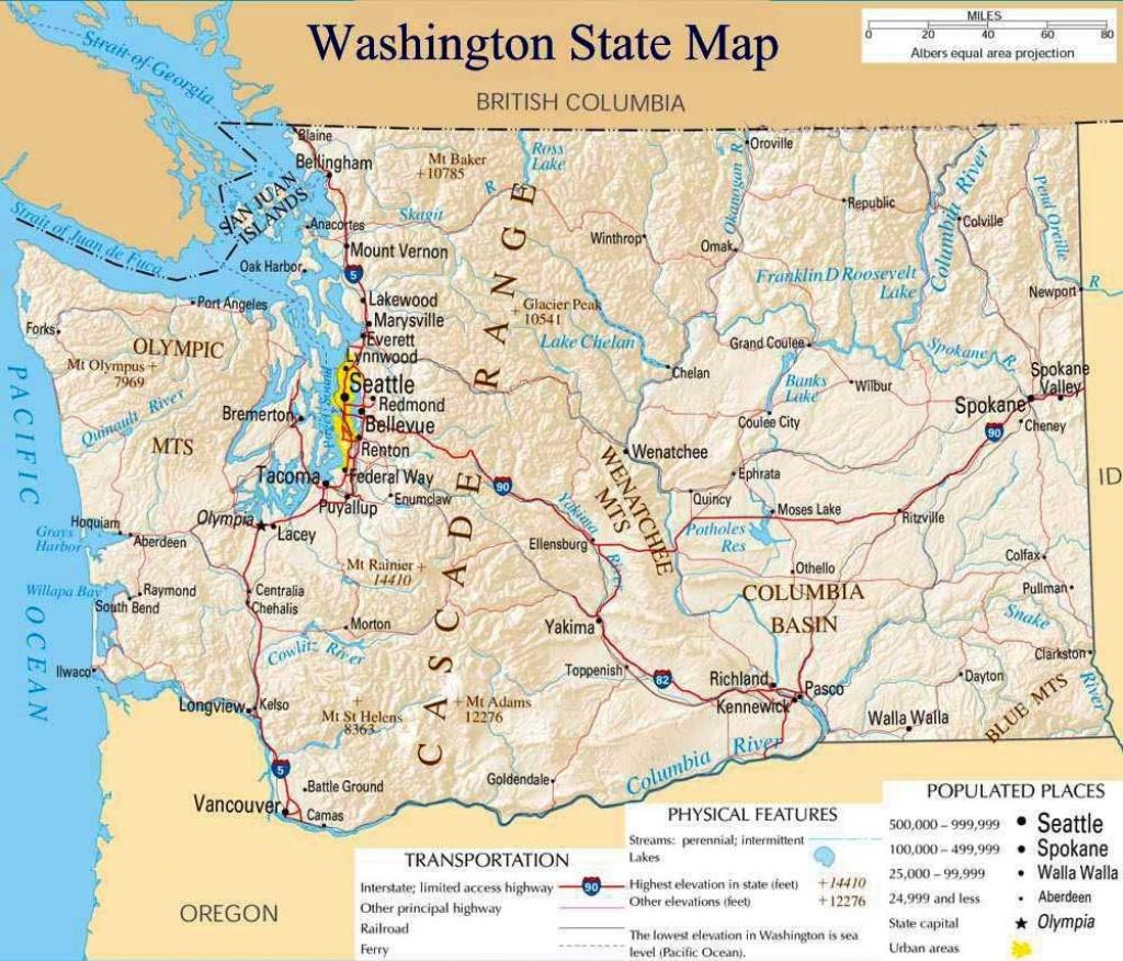 Pinsaitama On Map   Washington State Map, Washington Map - Printable Map Of Washington State