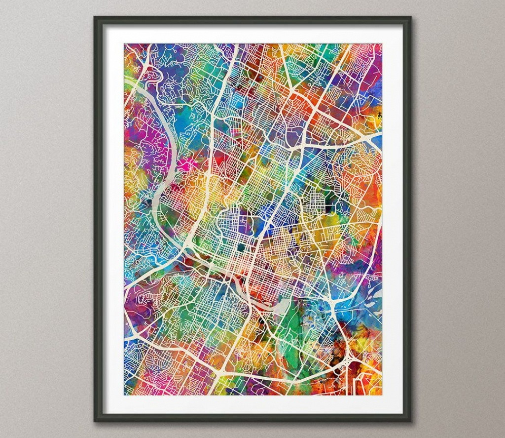 Pinsonia Ponce Ramos On Wonderful Maps - Texas Map Framed Art
