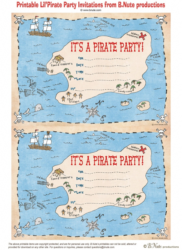 Pintara Hunter On Party Ideas | Pirate Party Invitations, Pirate - Maps For Invitations Free Printable