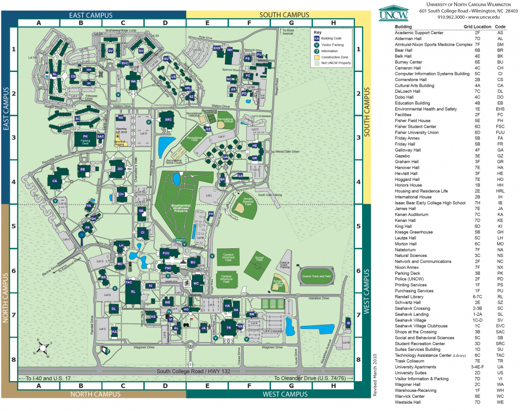 Pinterest - Duke University Campus Map Printable