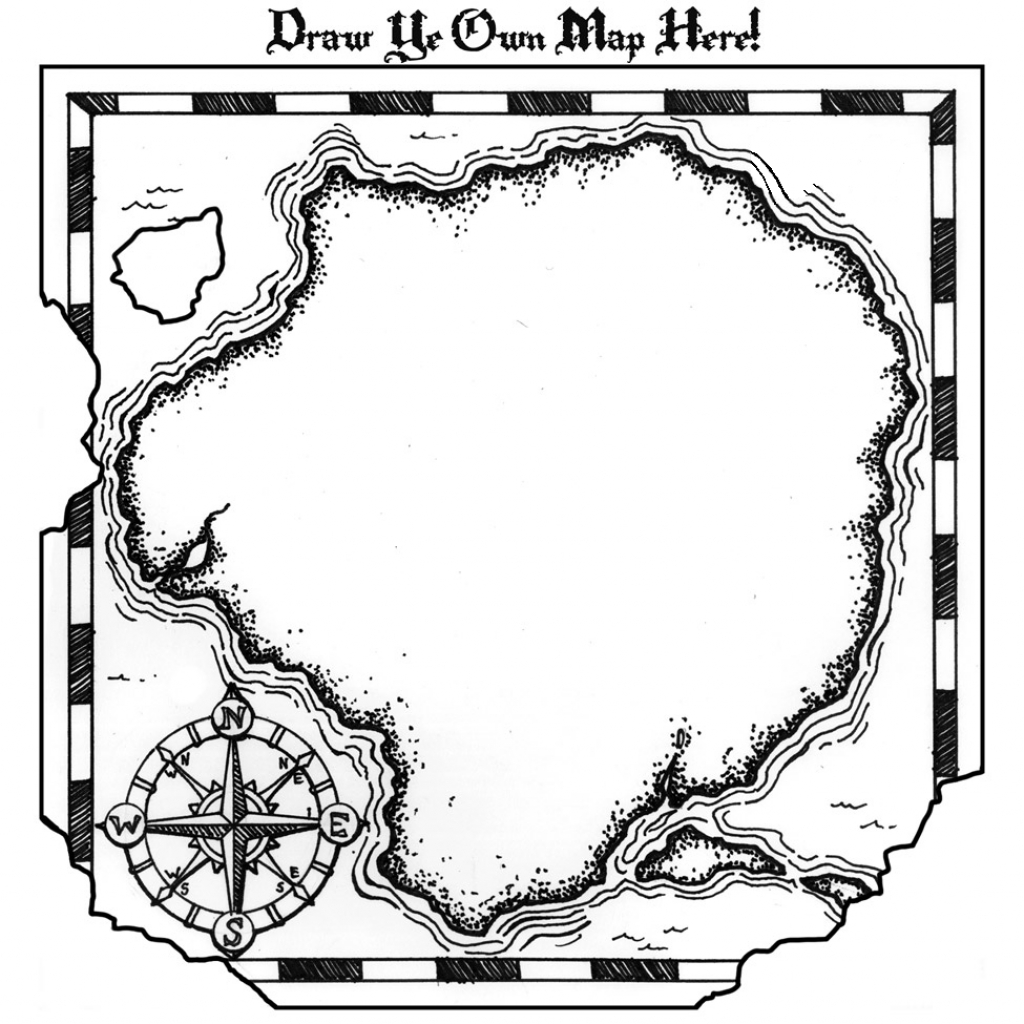 Pirate Map Coloring Pages Printable - Coloring Home - Printable Treasure Map Coloring Page