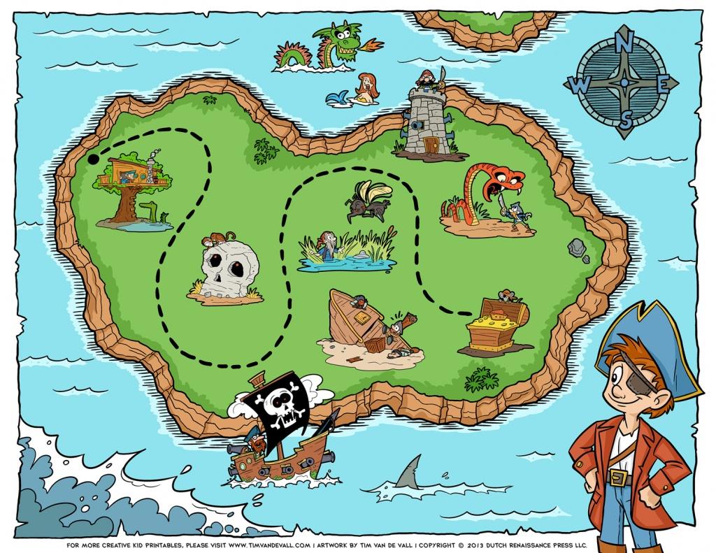 Pirate-Treasure-Map - Tim's Printables - Pirate Treasure Map Printable