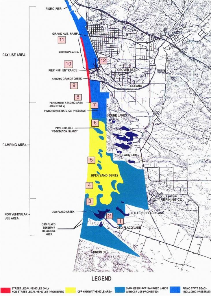 Pismo Beach California Map   Secretmuseum - Pismo Beach California Map
