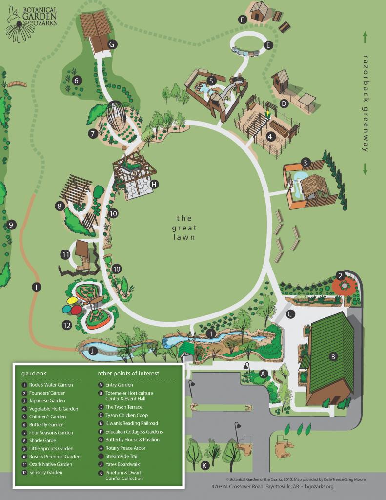 Plan Your Visit | Botanical Garden Of The Ozarks - Florida Botanical Gardens Tourist Map